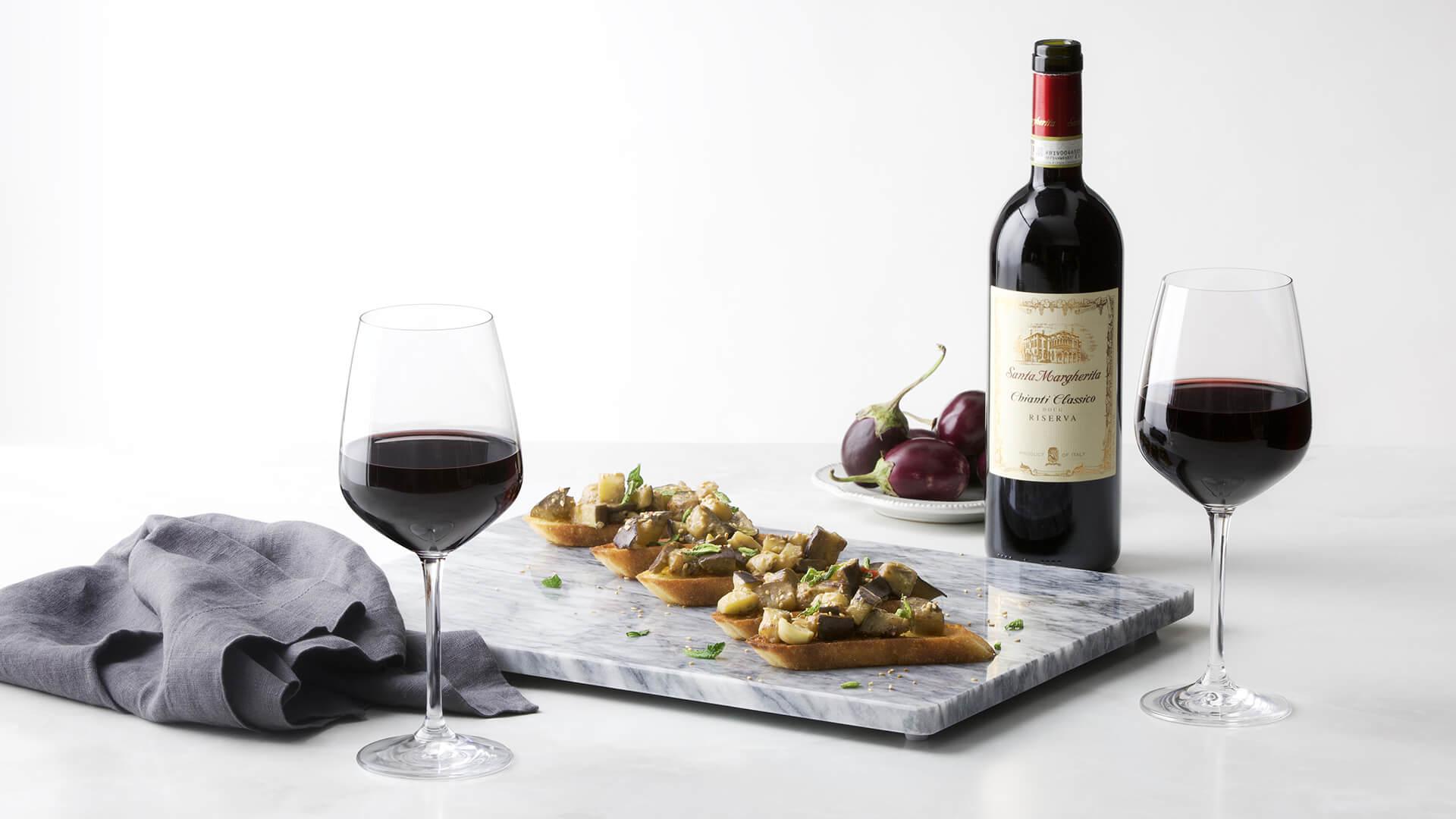 Eggplant and Spicy Miso Crostini