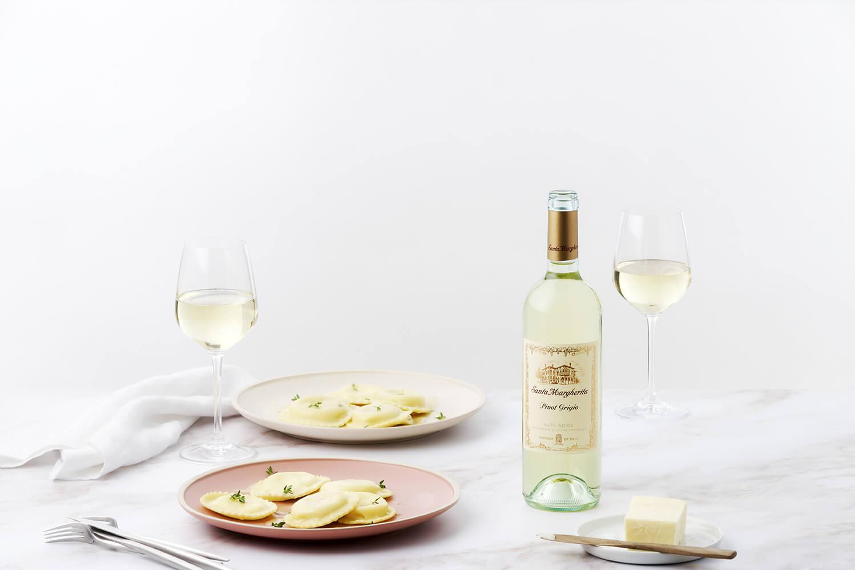 Potato and Crab Ravioli with Lemon Butter